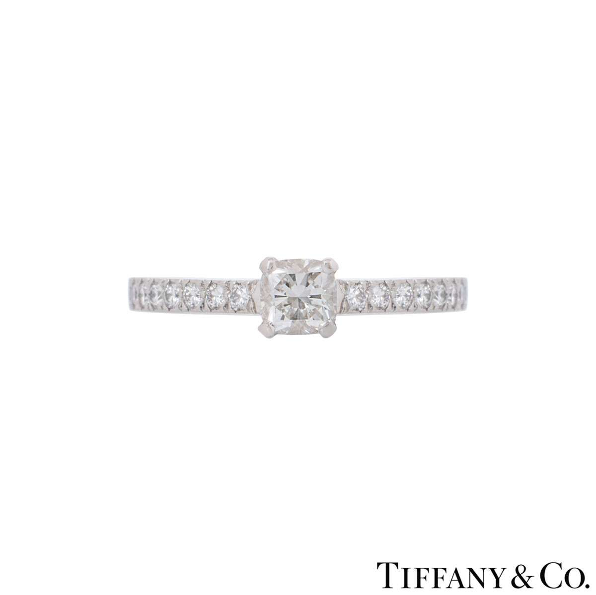 Tiffany & Co. Platinum Diamond Ring 0.33ct G/VS1